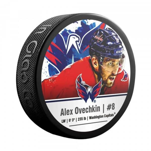 Alex Ovechkin Washington Capitals NHL Player Souvenir Puck