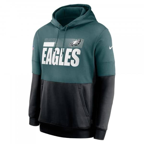 Philadelphia Eagles 2020 NFL Sideline Lockup Nike Therma Hoodie