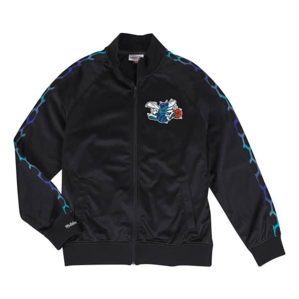 78c08a89 Mitchell & Ness Charlotte Hornets Hardwood Classics NBA Track Jacket Black  | TAASS.com Fan Shop