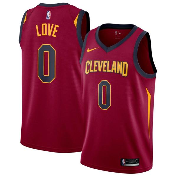 Kevin Love #0 Cleveland Cavaliers Icon Swingman NBA Trikot Rot