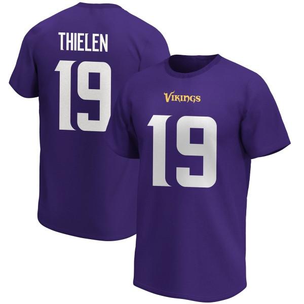 Adam Thielen #19 Minnesota Vikings Fanatics Player Script NFL T-Shirt Lila