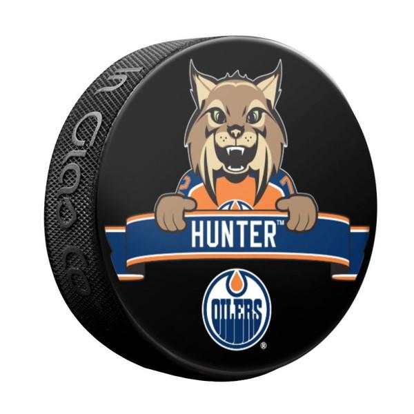 Edmonton Oilers Hunter Mascot NHL Souvenir Puck