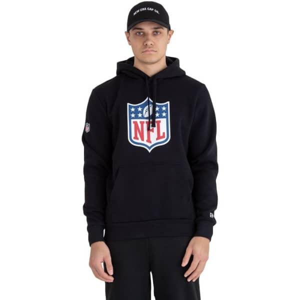 the latest de2c6 9fe2f NFL Shield Logo Hoodie NFL Sweatshirt Schwarz
