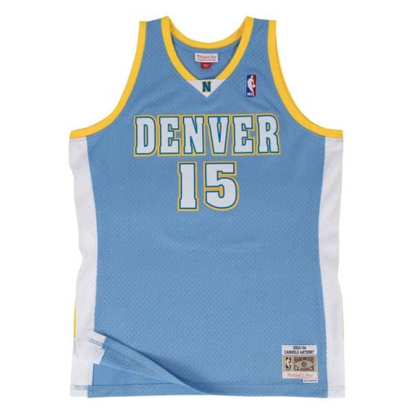 Carmelo Anthony #15 Denver Nuggets 2003-04 Mitchell & Ness Swingman NBA Trikot Blau