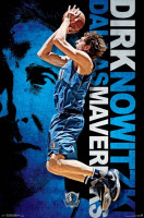 Dallas Mavericks Dirk Nowitzki Superstar NBA Poster