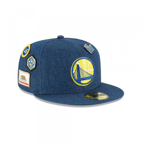 finest selection ef032 b40e9 Golden State Warriors 2018 NBA Draft 59FIFTY Fitted Cap Denim