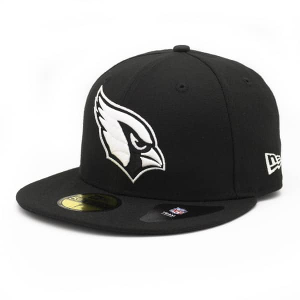 Arizona Cardinals Black & White 59FIFTY Fitted NFL Cap