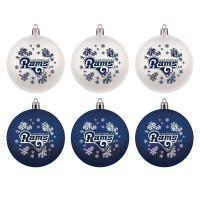 Los Angeles Rams NFL Weihnachtskugeln Geschenk-Set (6-Teilig)