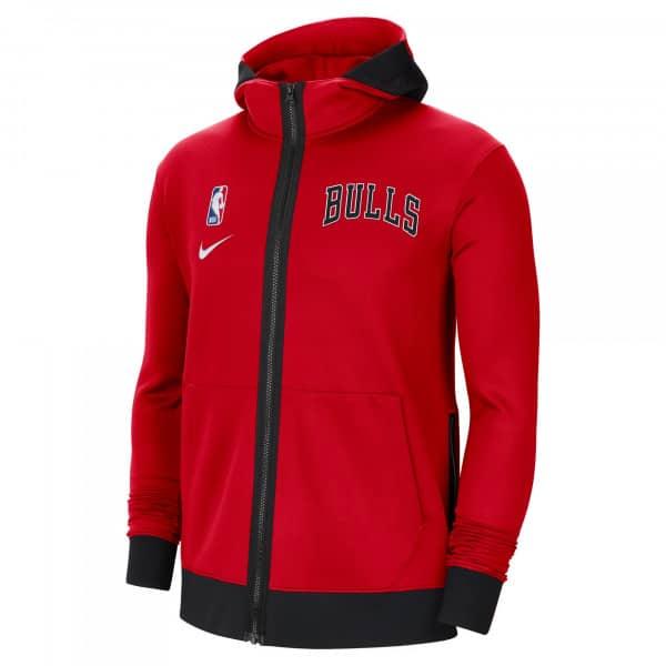 Chicago Bulls 2020/21 NBA Authentic Showtime Therma Flex Full-Zip Hoodie