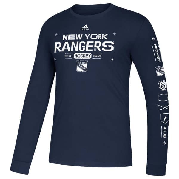 New York Rangers 2019/20 NHL Long Sleeve Amplifier T-Shirt