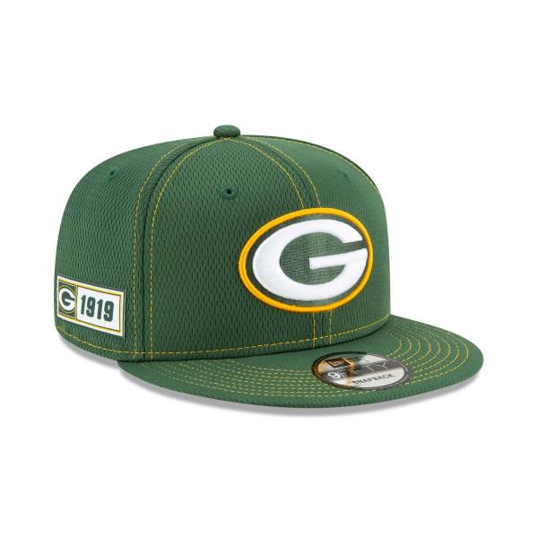 Green Bay Packers 2019 NFL On-Field Sideline 9FIFTY Snapback Cap Road