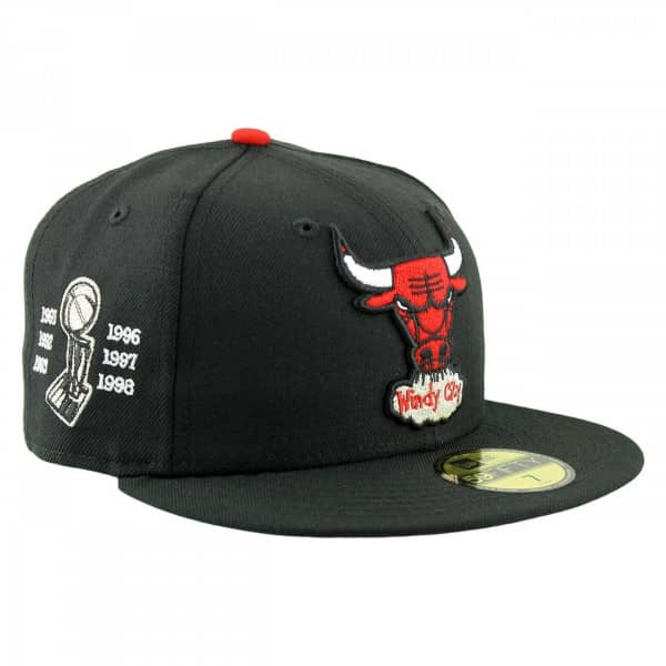 49d8df8d7a8 New Era Chicago Bulls 6-Time Champions 59FIFTY Fitted NBA Hat ...