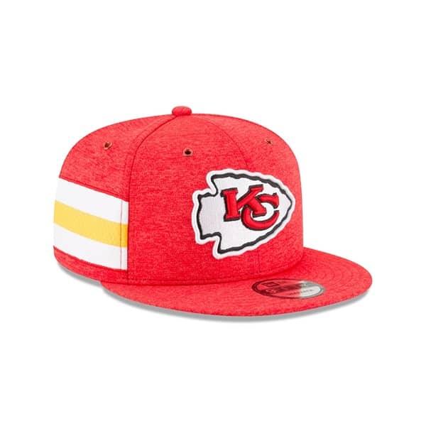 9d24fae84 New Era Kansas City Chiefs 2018 NFL Sideline 9FIFTY Snapback Cap ...
