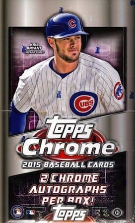 2015 Topps Chrome Baseball Hobby Box MLB