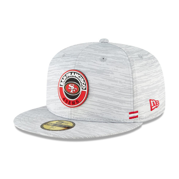 San Francisco 49ers Official 2020 NFL Sideline New Era 59FIFTY Fitted Cap Road