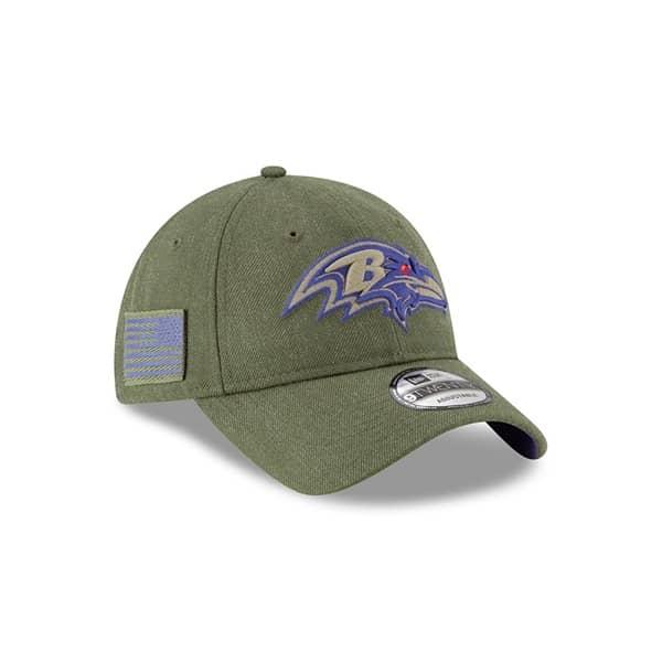 New Era Baltimore Ravens 2018 Salute to Service 9TWENTY NFL Cap ... acb0fe4fc33f