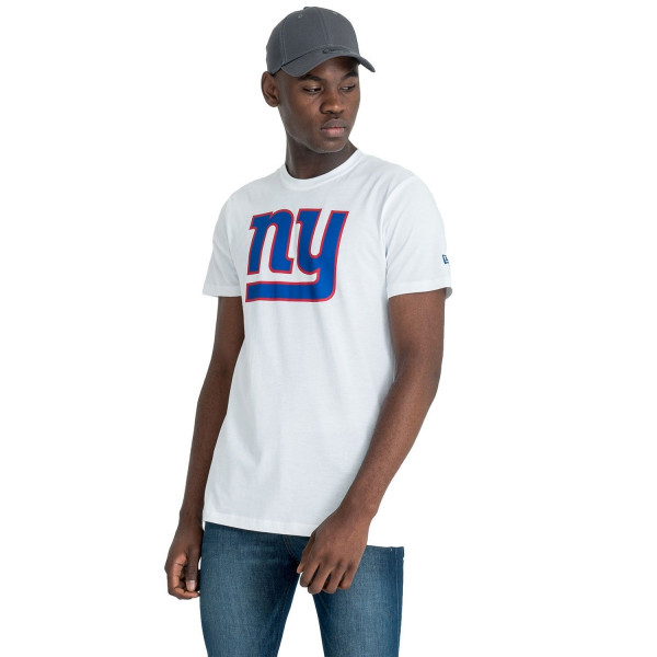 New York Giants Team Logo Football NFL T-Shirt Weiß