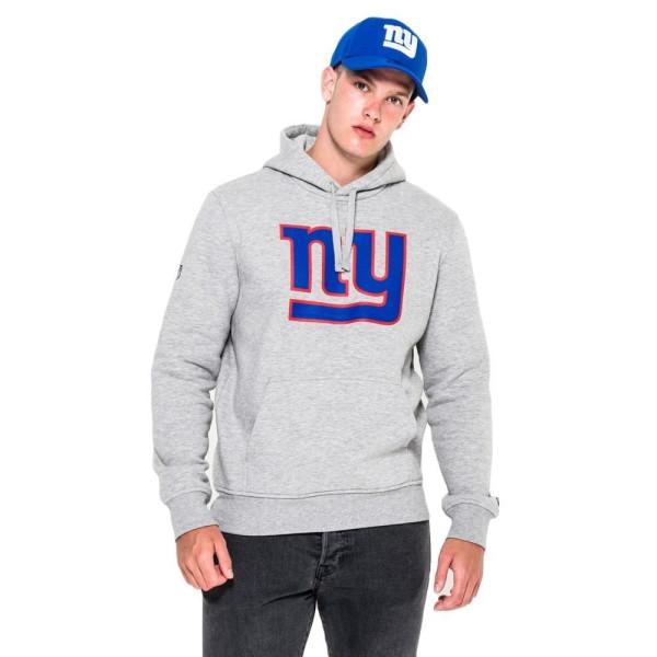 New York Giants Logo Hoodie NFL Sweatshirt Grau