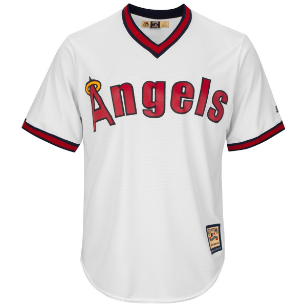 California Angels Cooperstown Cool Base MLB Trikot Weiß