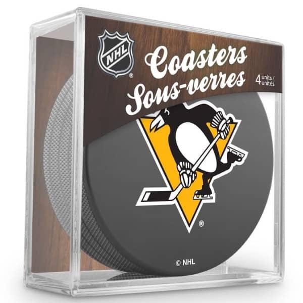 Pittsburgh Penguins NHL Eishockey Puck Untersetzer (4er Set)