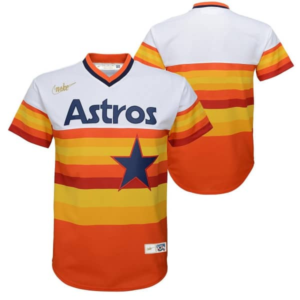 Houston Astros Youth MLB Replica Cooperstown Trikot Rainbow (KINDER)