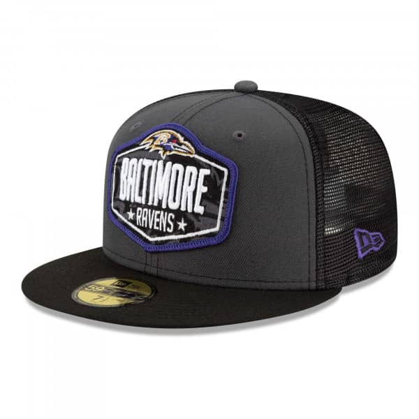 Baltimore Ravens Official 2021 NFL Draft New Era 59FIFTY Fitted Cap