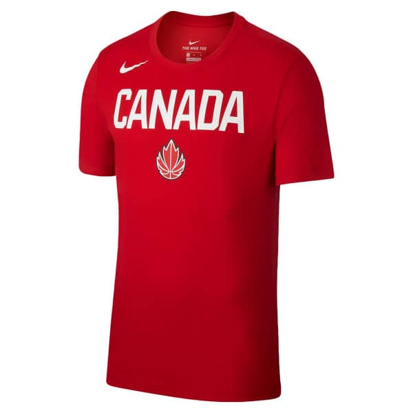 Team Canada 2019 Logo Basketball T-Shirt Red