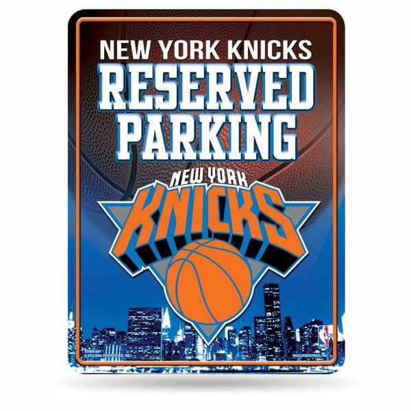 New York Knicks Reserved Parking NBA Metallschild