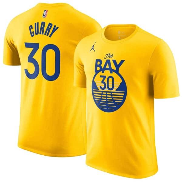 Stephen Curry #30 Golden State Warriors Jordan Statement NBA T-Shirt Gelb