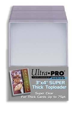"""Ultra Pro Toploader 3 x 4"""" Thick Cards - 75pt"""