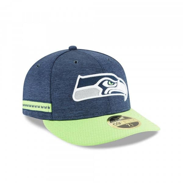 Seattle Seahawks 2018 NFL Sideline Low Profile 59FIFTY Cap Home