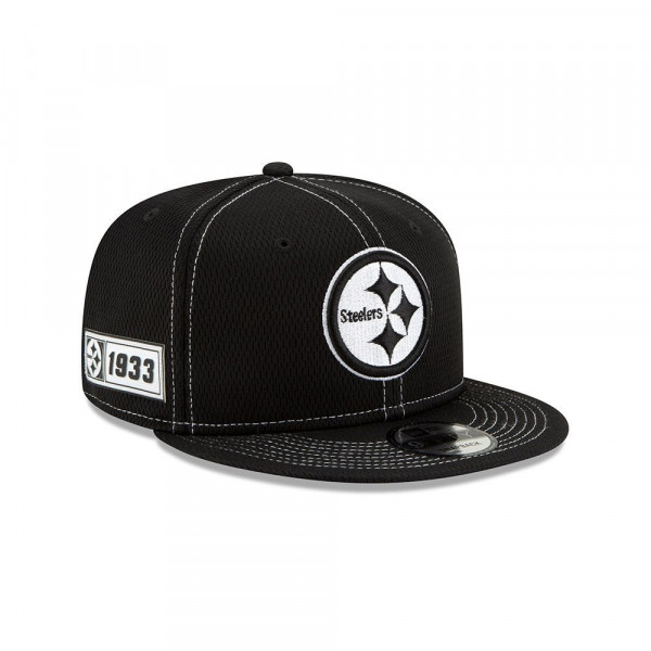 Pittsburgh Steelers 2019 NFL Sideline Black 9FIFTY Snapback Cap Road