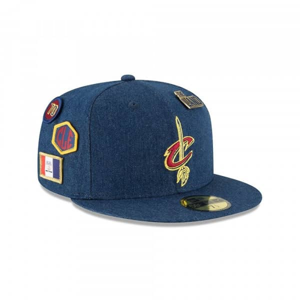 Cleveland Cavaliers 2018 NBA Draft 59FIFTY Fitted Cap Denim