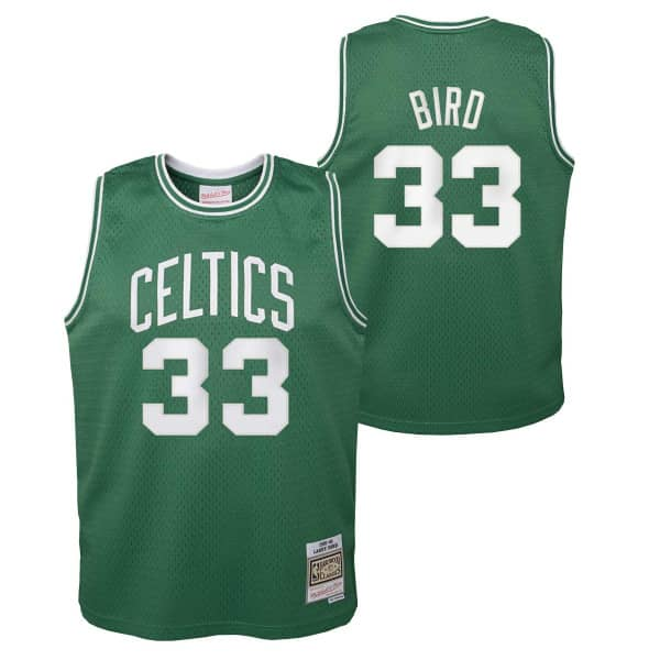 Larry Bird #33 Boston Celtics 1985-86 Youth Swingman NBA Trikot (KINDER)