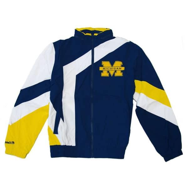 Michigan Wolverines Panneled Mitchell & Ness NCAA Trainingsjacke