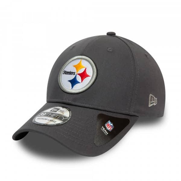 Pittsburgh Steelers Team New Era 39THIRTY Flex Fit NFL Cap Grau