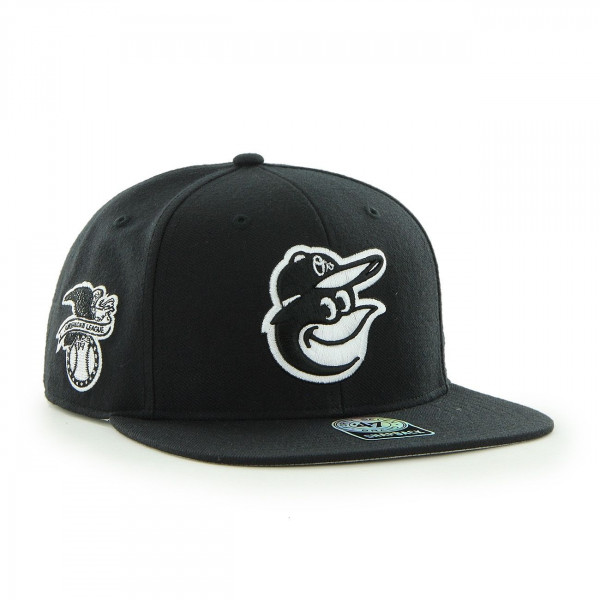 Baltimore Orioles Black & White Sure Shot Snapback MLB Cap