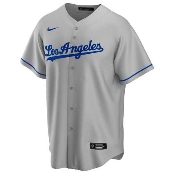 Los Angeles Dodgers 2020 Nike MLB Replica Road Trikot Grau