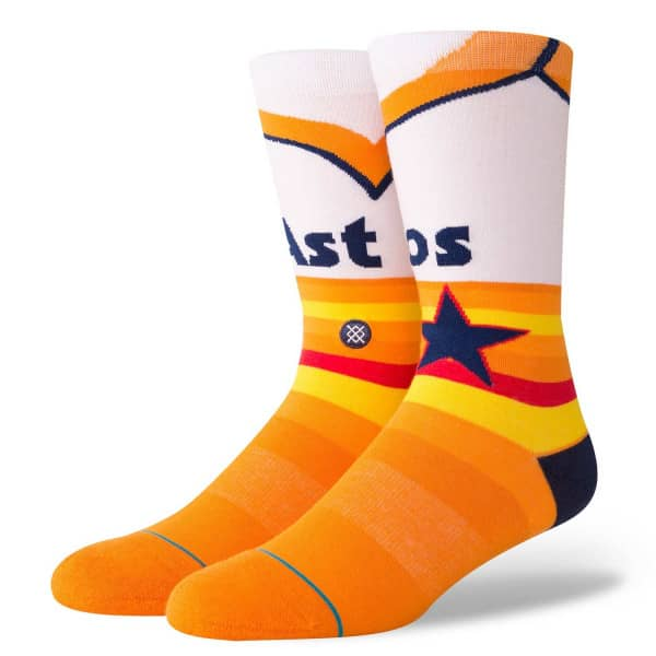 Houston Astros Retro 1975 Jersey MLB Socken Weiß