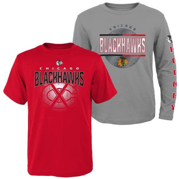 Chicago Blackhawks Evolution 3-in-1 Combo Shirt Set (KINDER)