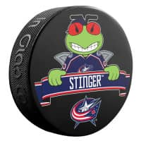 Columbus Blue Jackets Stinger Mascot NHL Souvenir Puck