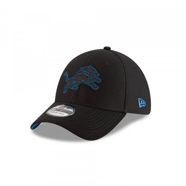 outlet store 8a4f9 28fea New Era Detroit Lions 2018 NFL Training 39THIRTY Cap Black   TAASS.com Fan  Shop