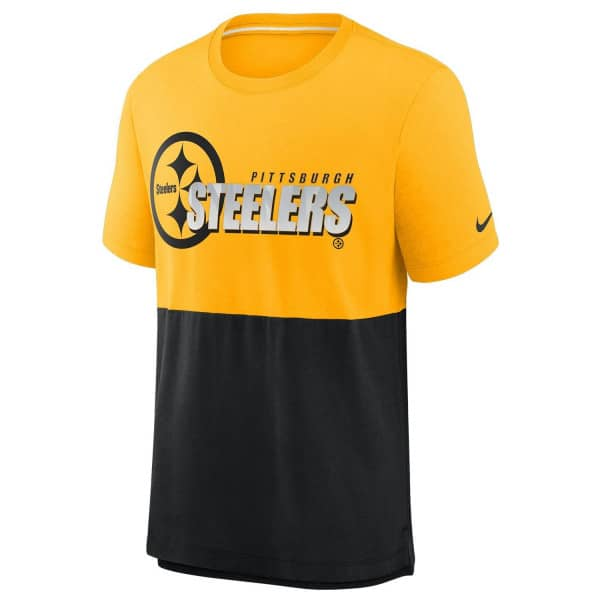 Pittsburgh Steelers 2020 NFL Colorblock Nike Tri-Blend T-Shirt