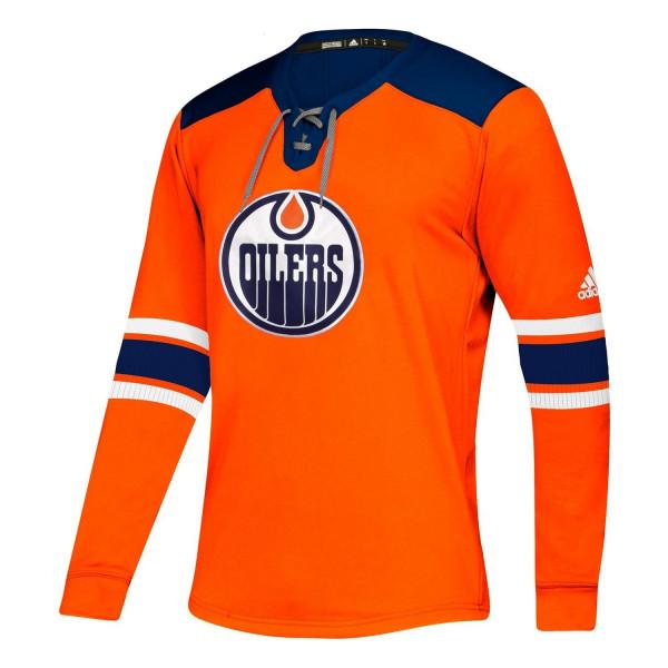 Edmonton Oilers NHL Platinum Long Sleeve Trikot