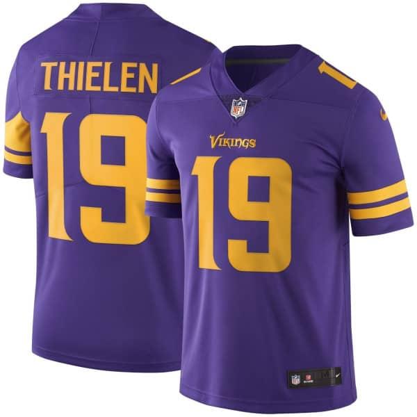Adam Thielen #19 Minnesota Vikings Nike Color Rush Limited NFL Trikot Lila
