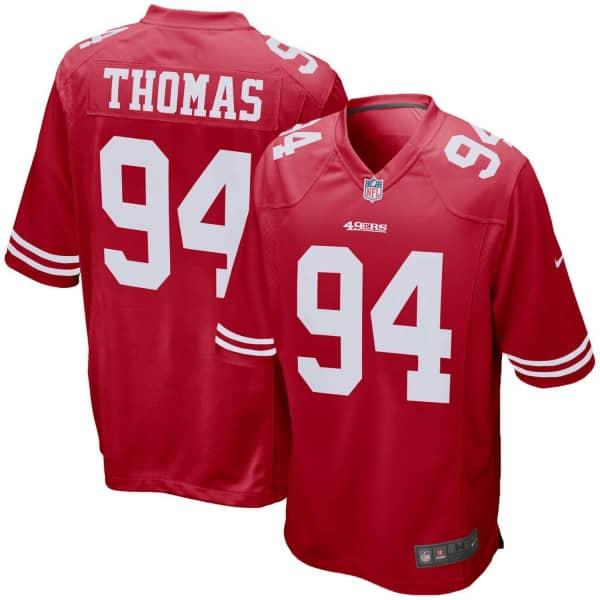 Solomon Thomas #94 San Francisco 49ers Game Football NFL Trikot Rot