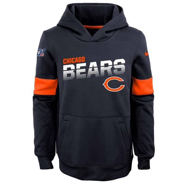 Chicago Bears 2019 NFL Sideline Therma Hoodie (KINDER)