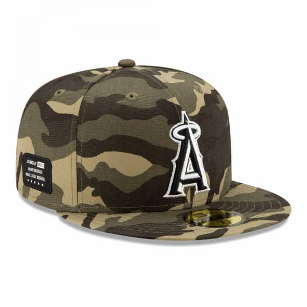 Los Angeles Angels 2021 MLB Authentic Armed Forces New Era 59FIFTY Fitted Cap