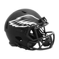 Philadelphia Eagles Riddell Eclipse Black Matte NFL Speed Mini Helm