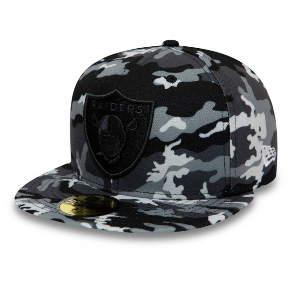 huge selection of 5f1fe d964e Oakland Raiders Black Camo 59FIFTY Fitted NFL Cap
